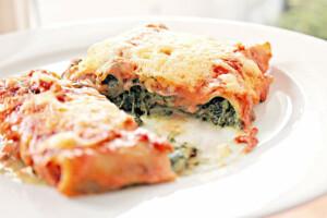 Cannelloni au boeuf et aux épinards