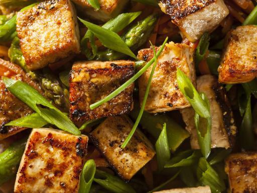 Tofu mariné aux herbes