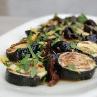 Courgettes aux olives