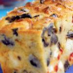 Cake aux Olives, aux poivrons et à la Féta