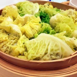 Bouchées chinoises au chou et au poulet