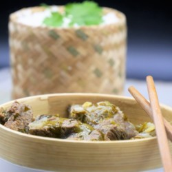 Curry de boeuf Thaï, coriandre et citron vert