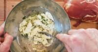 Roulés de jambon de Bayonne, fromage frais et herbes - Instruction 1