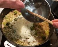 Risotto poireau, brebis, olives - Instruction 10
