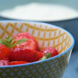 Salade de fraises citron-verveine