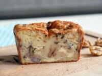 Cake au Bleu d'Auvergne, Lardons et Noix
