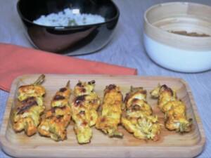 Brochettes de poulet Thaï
