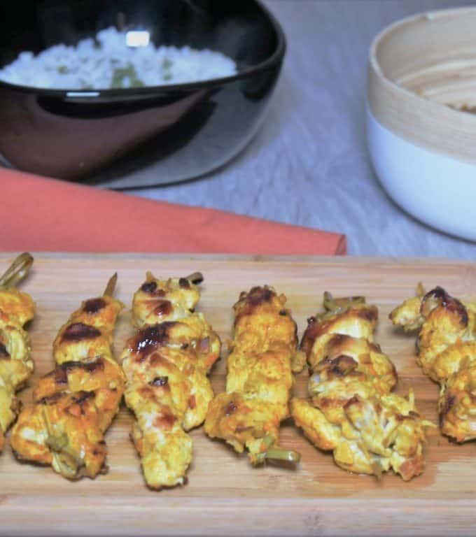 Brochettes de poulet à la Thaïlandaise