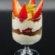 Verrine de fraises au mascarpone et spéculoos