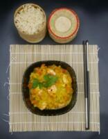 Lentilles corail «coco-crevettes»
