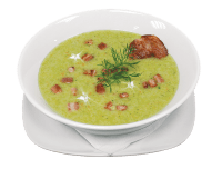 Entrées soupe brocolis lard